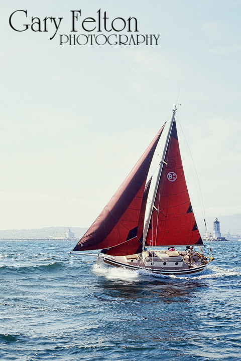 An old photo of a great yacht.